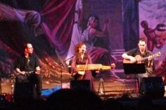 con Ana Alcaide, Renzo Ruggiero, Jaime Muñóz y Bill Cooley en el Teatro Cervantes, Málaga