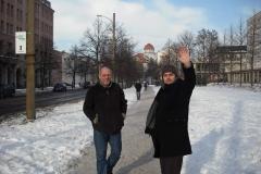con Dieter Weberpals, Leipzig, Alemania