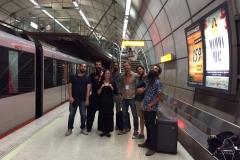 con el sexteto de Ana Alcaide, metro de Bilbao