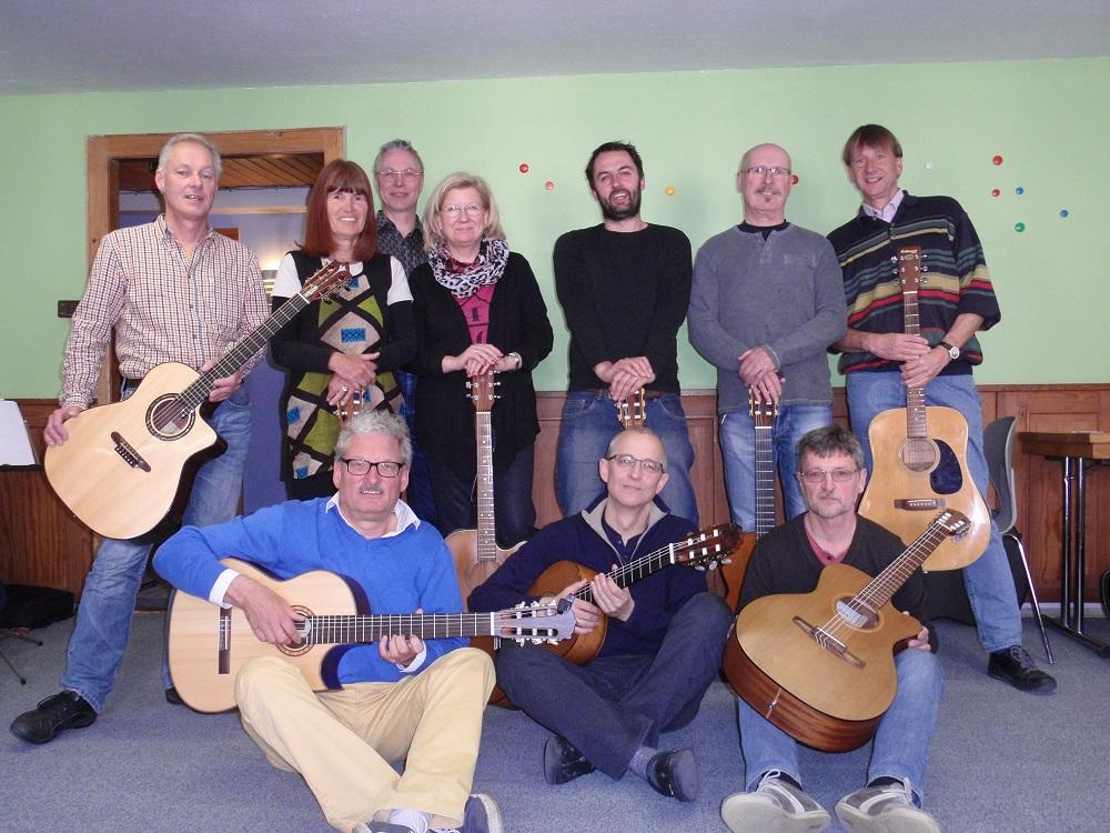Con los participantes de mi seminario de guitarra anual en Alemania, 2015